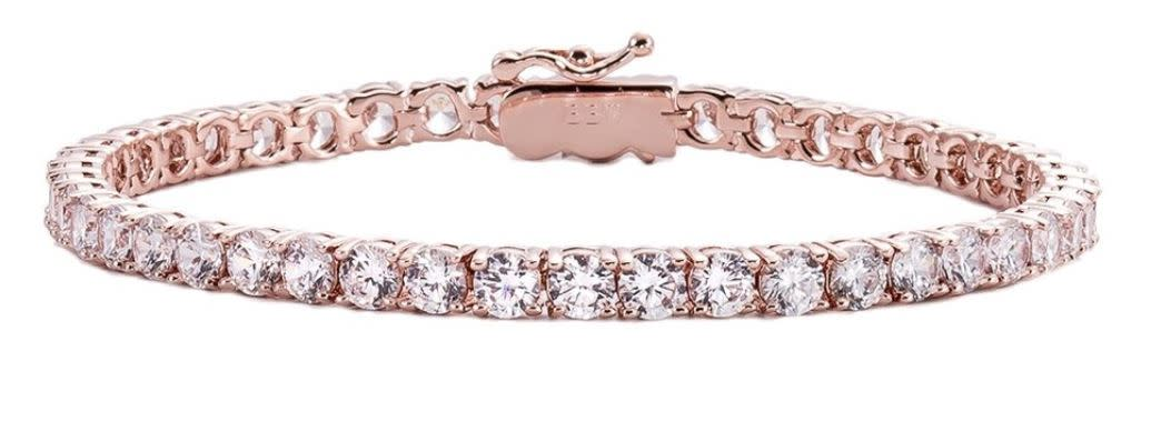 18 kgp rose gold 4mm tennis bracelet a ztrtzm