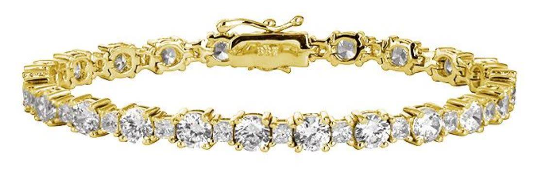 18 kgp princess cut tennis bracelet a kzfpzc