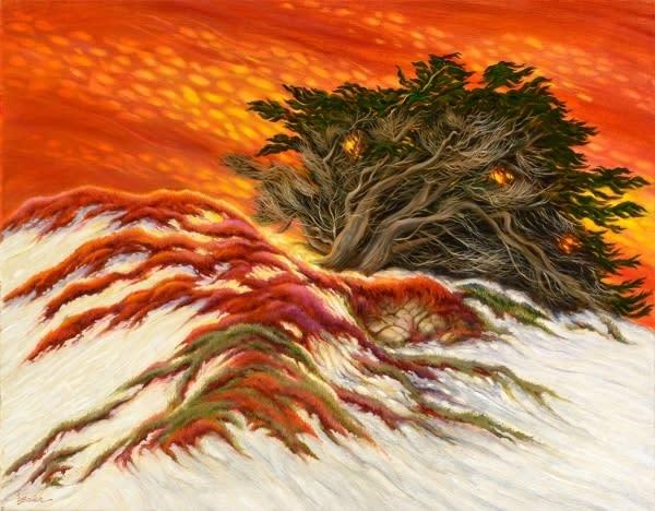 Cypress and sand dunes q8am5j