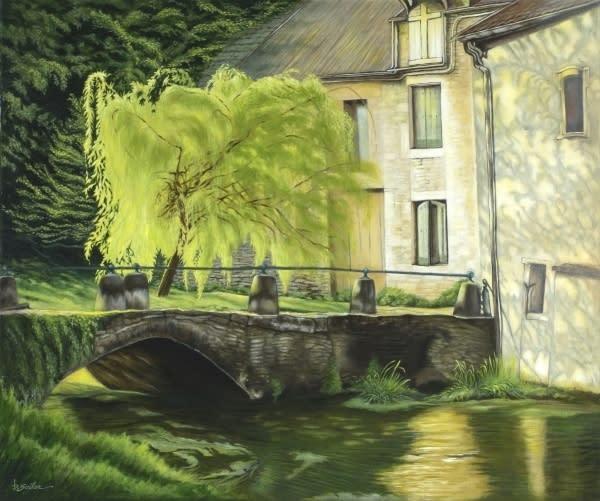 Willow at rue du la douix chatillon france bq0ttw