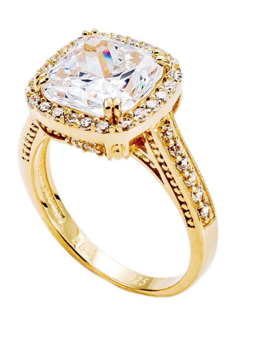 18 kgp 3.5 carat sq cush ring yd3ymt