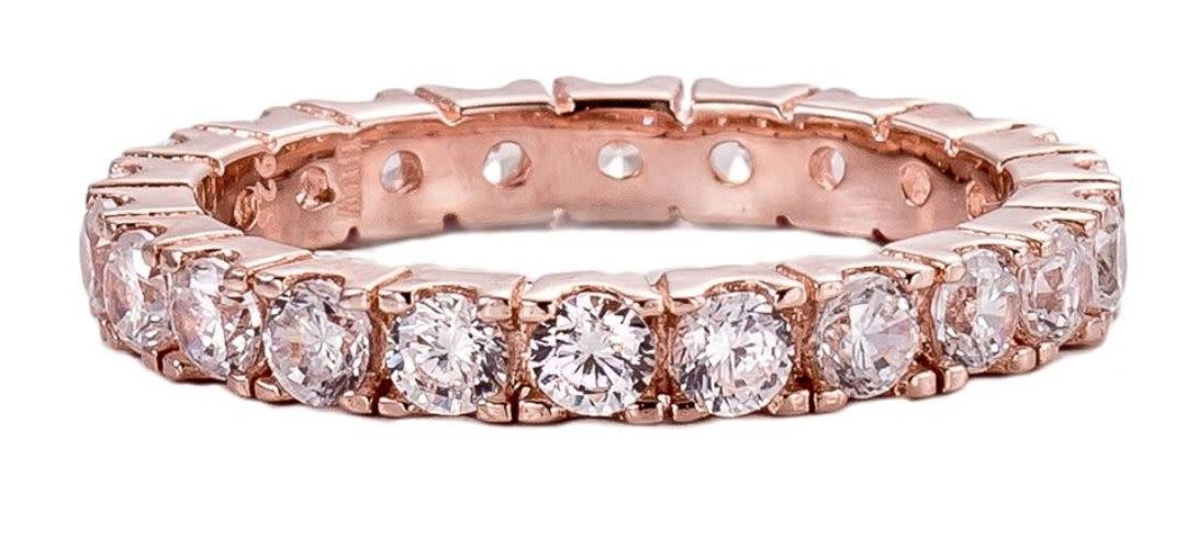 Rose gold 2.75mm eternity band a ievxao