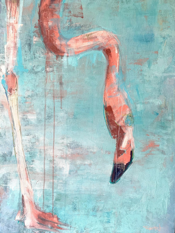 Flamingo ii 70 x 100cm laq592
