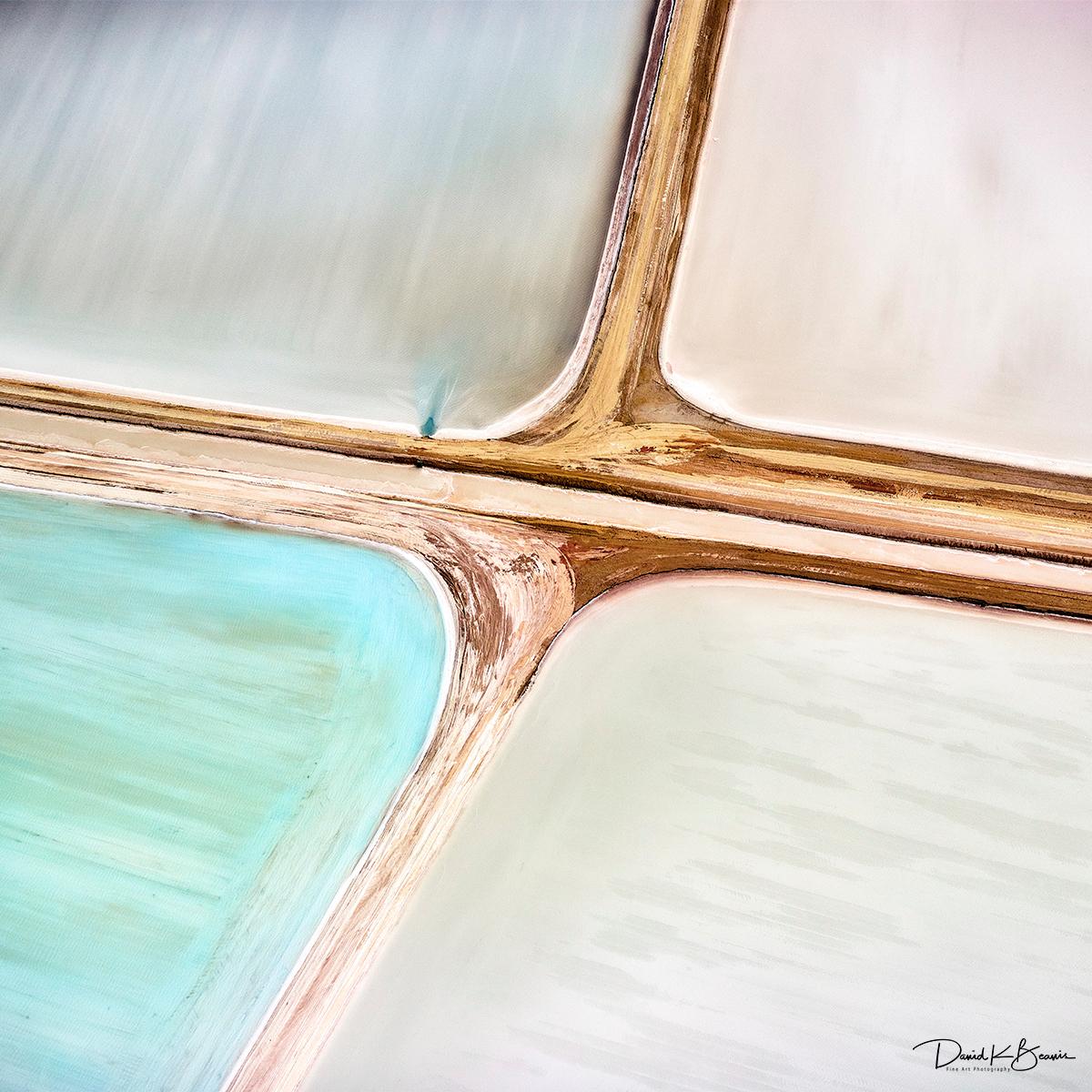 Salt ponds abstract nk4bgj l8utz5