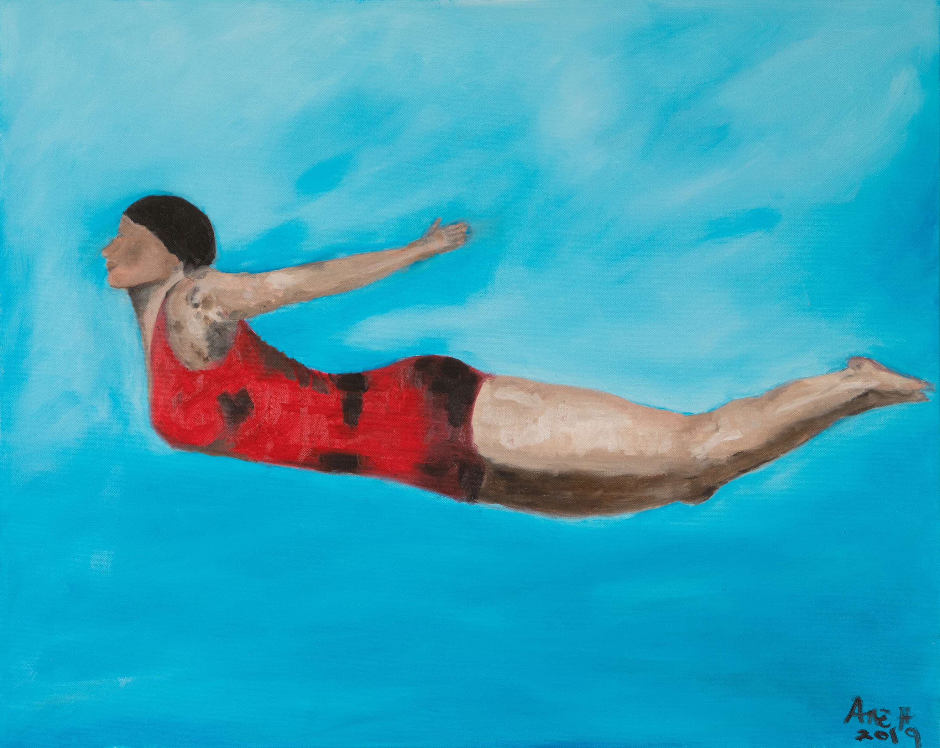 Diver  ane howard paintings 01 sbdiia