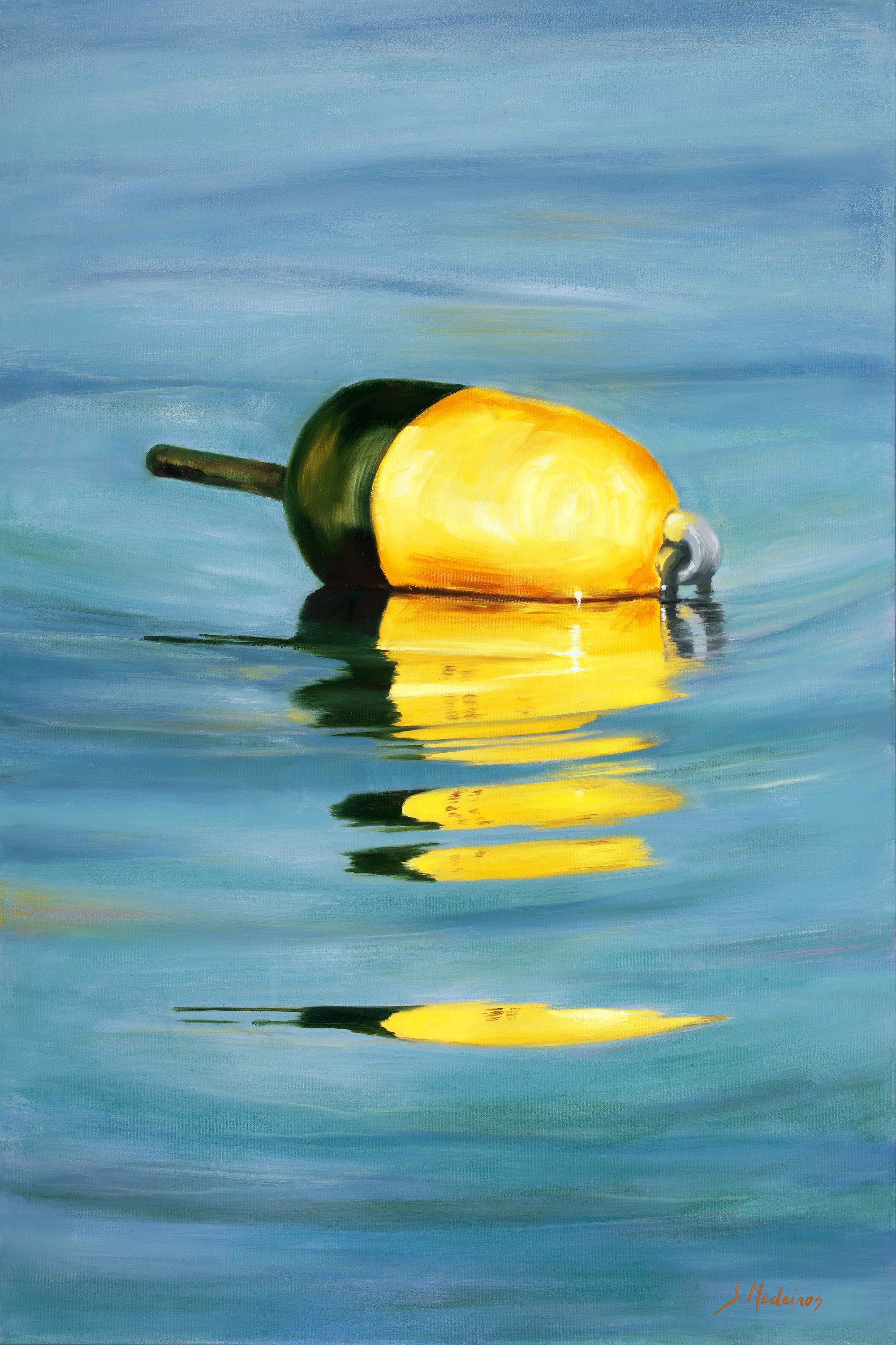 Picture 205 yellow lorster buoy 24x36 crop b flat 89mg sl w2kshy