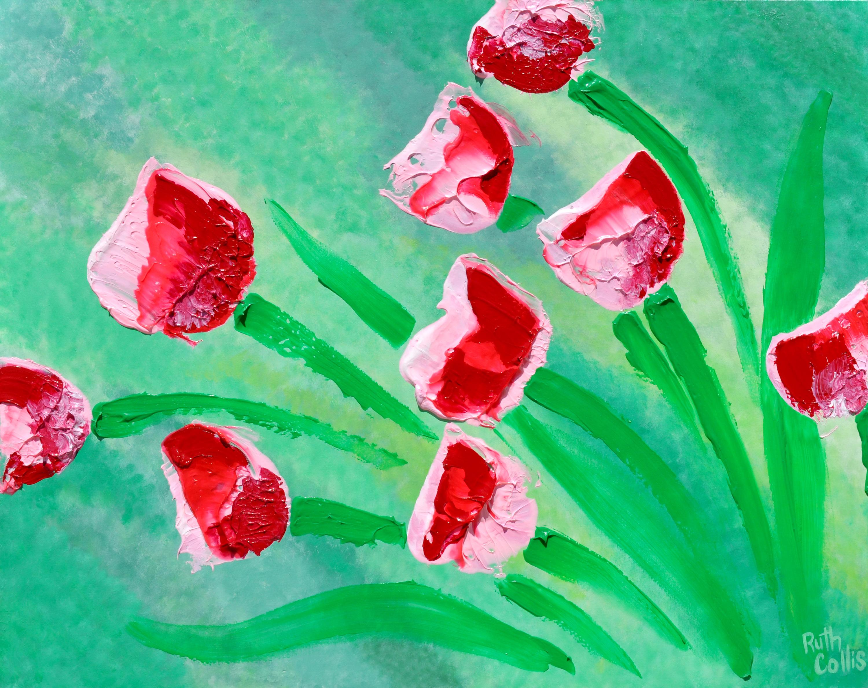Broomstick tulips fkrzpj