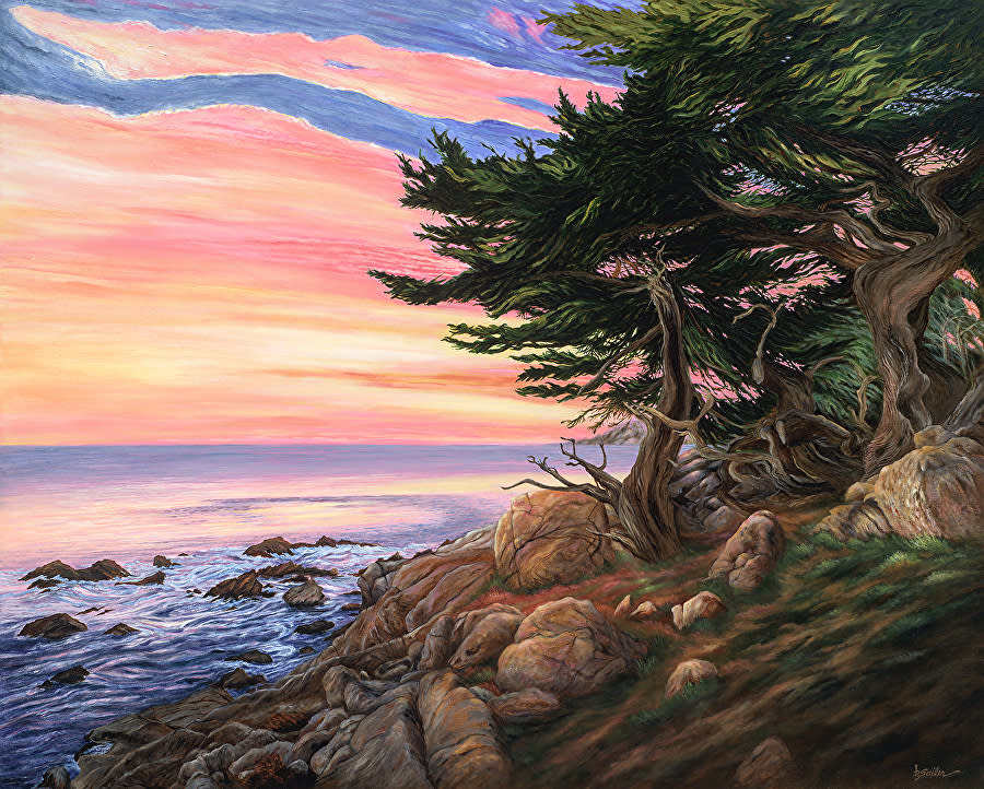Pescadero point sunset pebble beach fem9xe