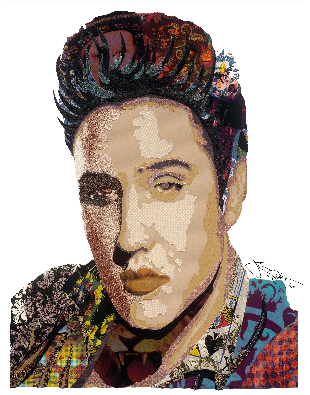 Elvis 11x14 signed vclocr