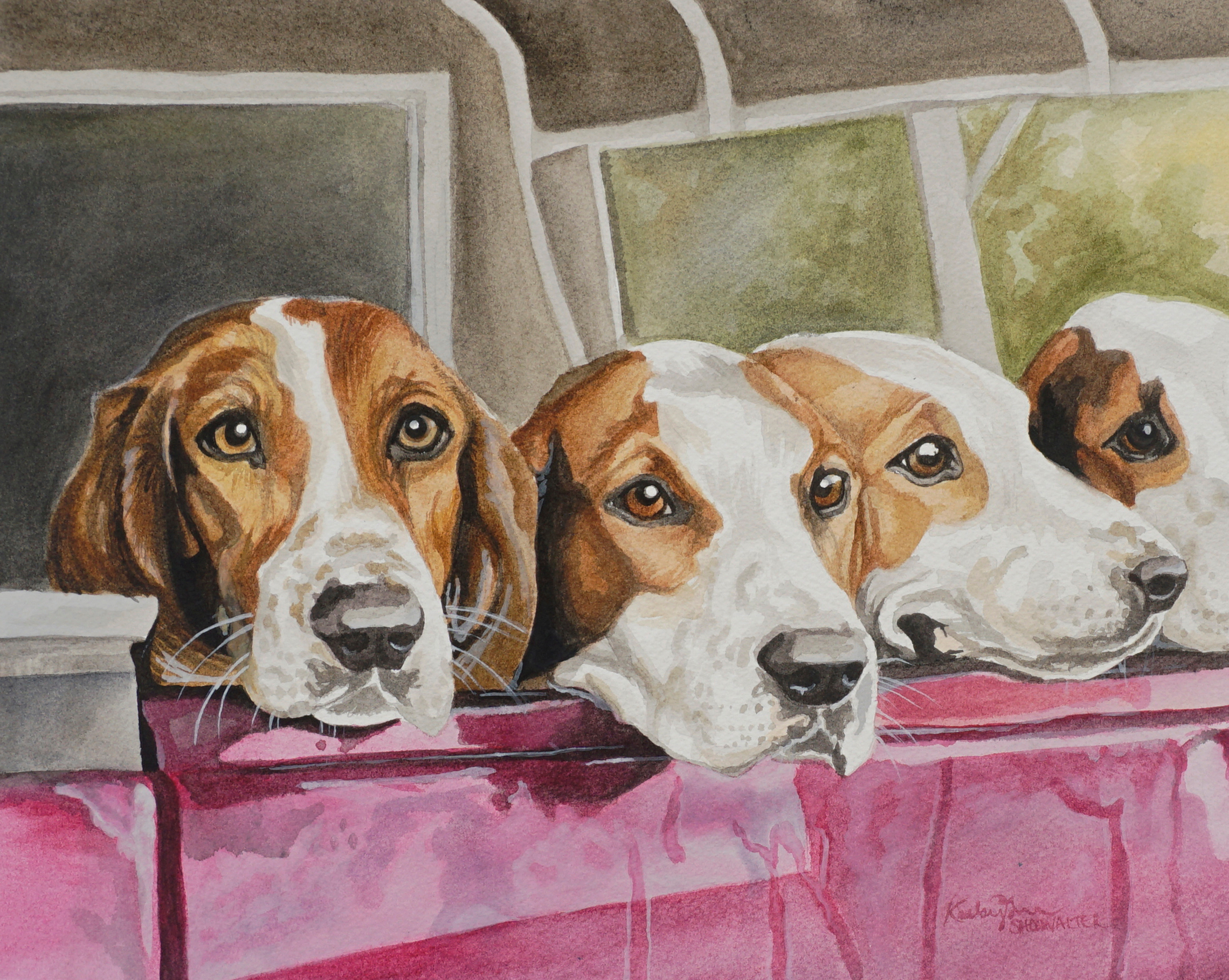 Bed riding hounds yvfpar