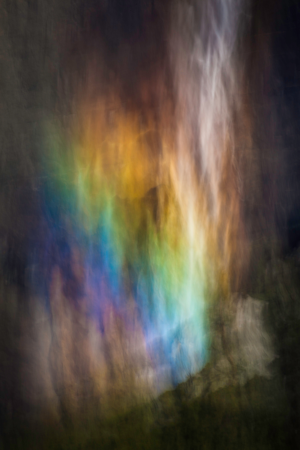 Yosemite falls rainbow abstract zvlgmz
