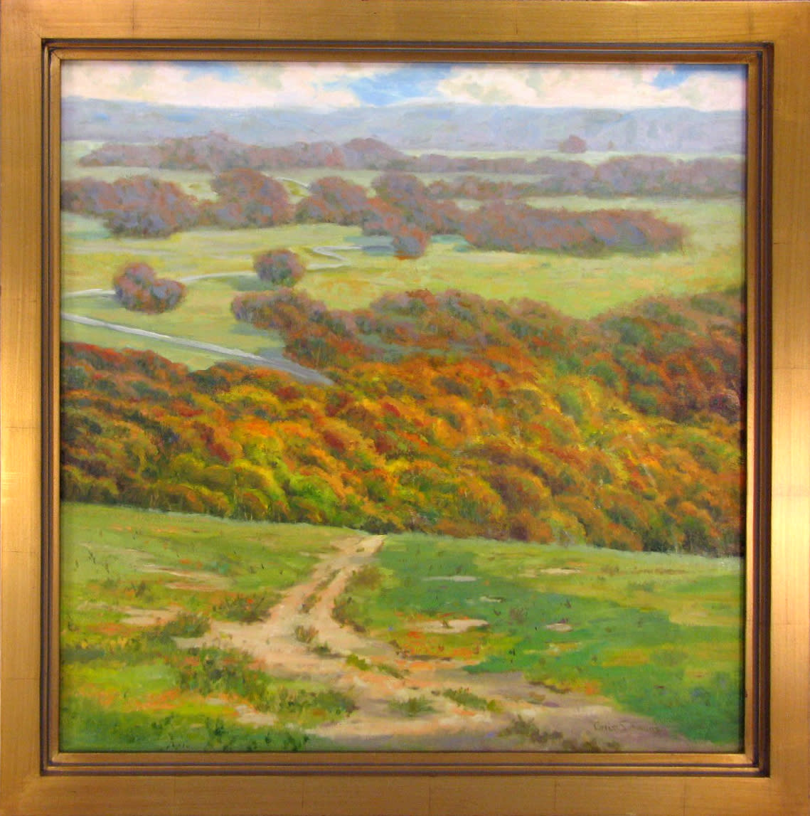 Virginia grass simmons   wrapped in the highland   oil   20 x 30   2500 ks0n0t