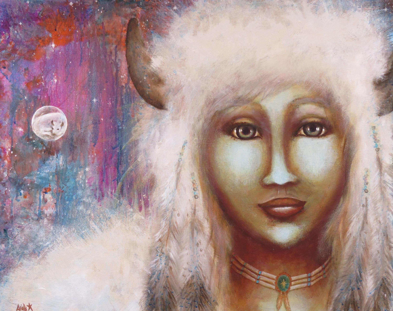 White buffalo calf woman i am peace ygnzyb