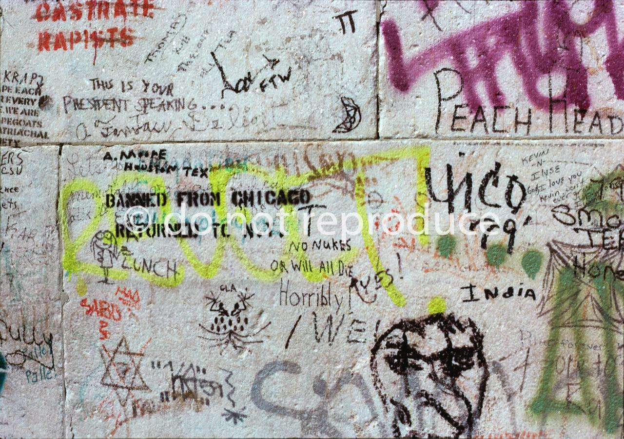 Washington square park arch graffiti 1970 s k1rgj7