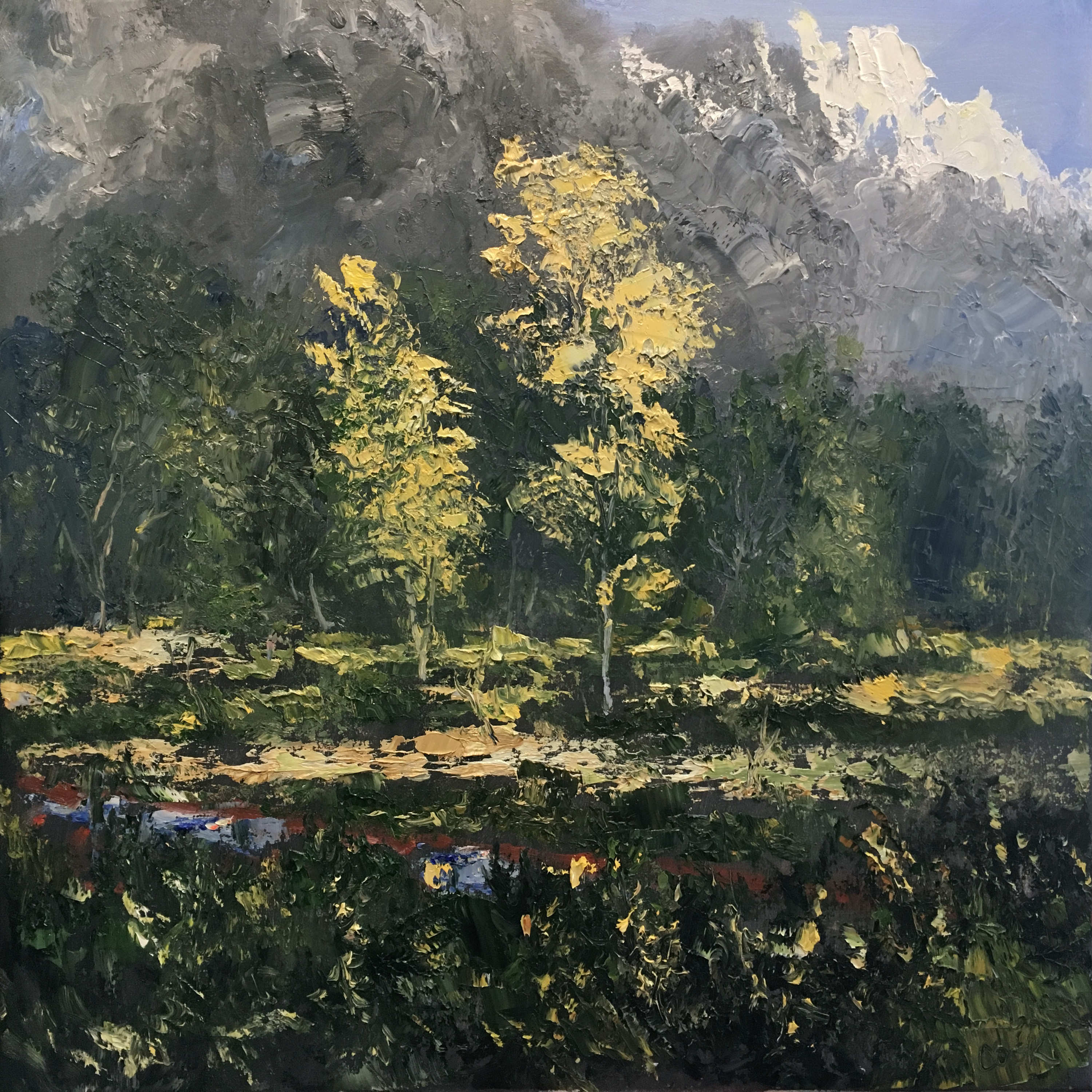 James pringle cook east cemetery road oil on canvas 24 x 24 4800 n9gkc4