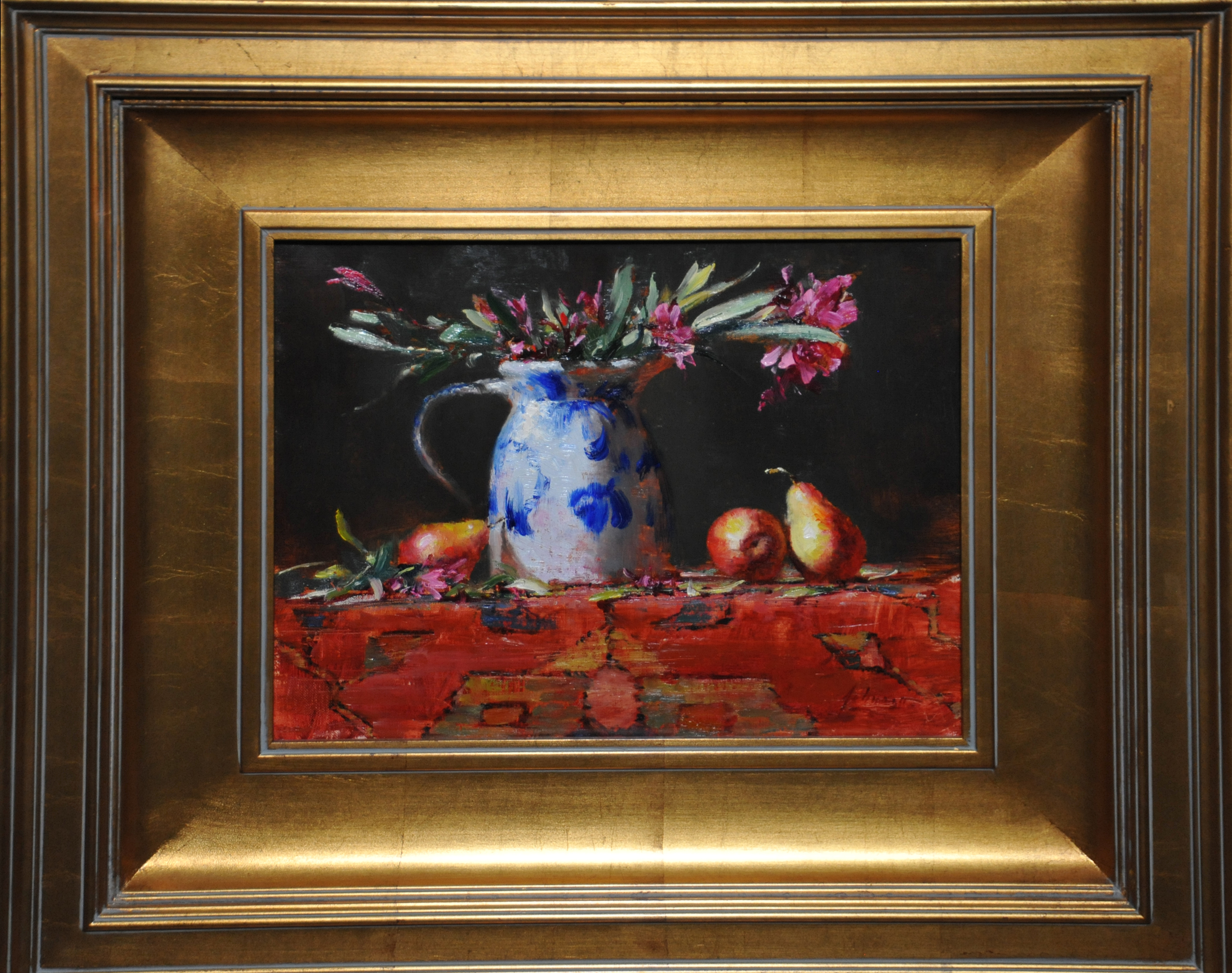 Oleander and pears 2 framed exncox