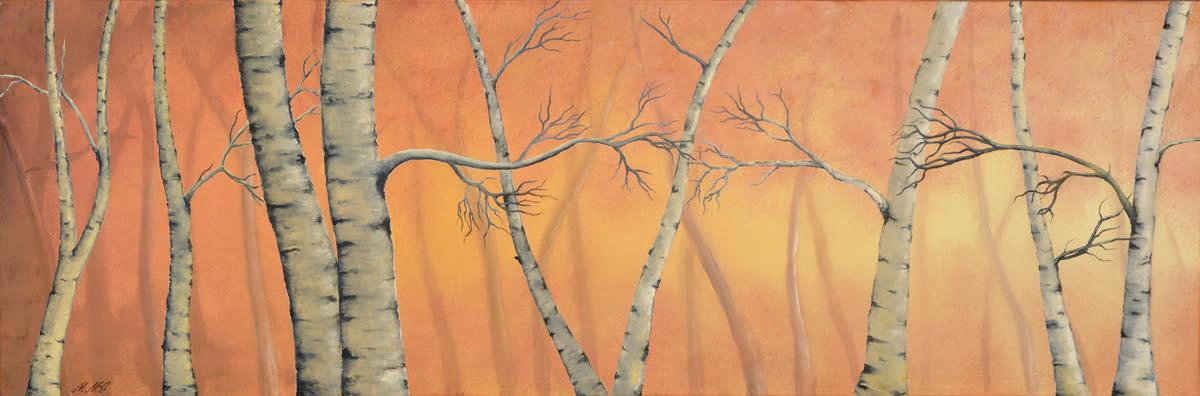 Birch trees  oil on canvas by monica marquez gatica mmg art studio rielm3