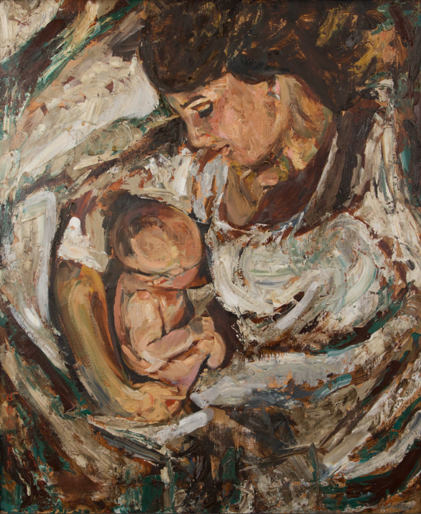 Mother and child 18x24 original with or without frame stot8h