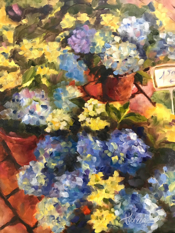 Hydrangeas in the market hwmdfm