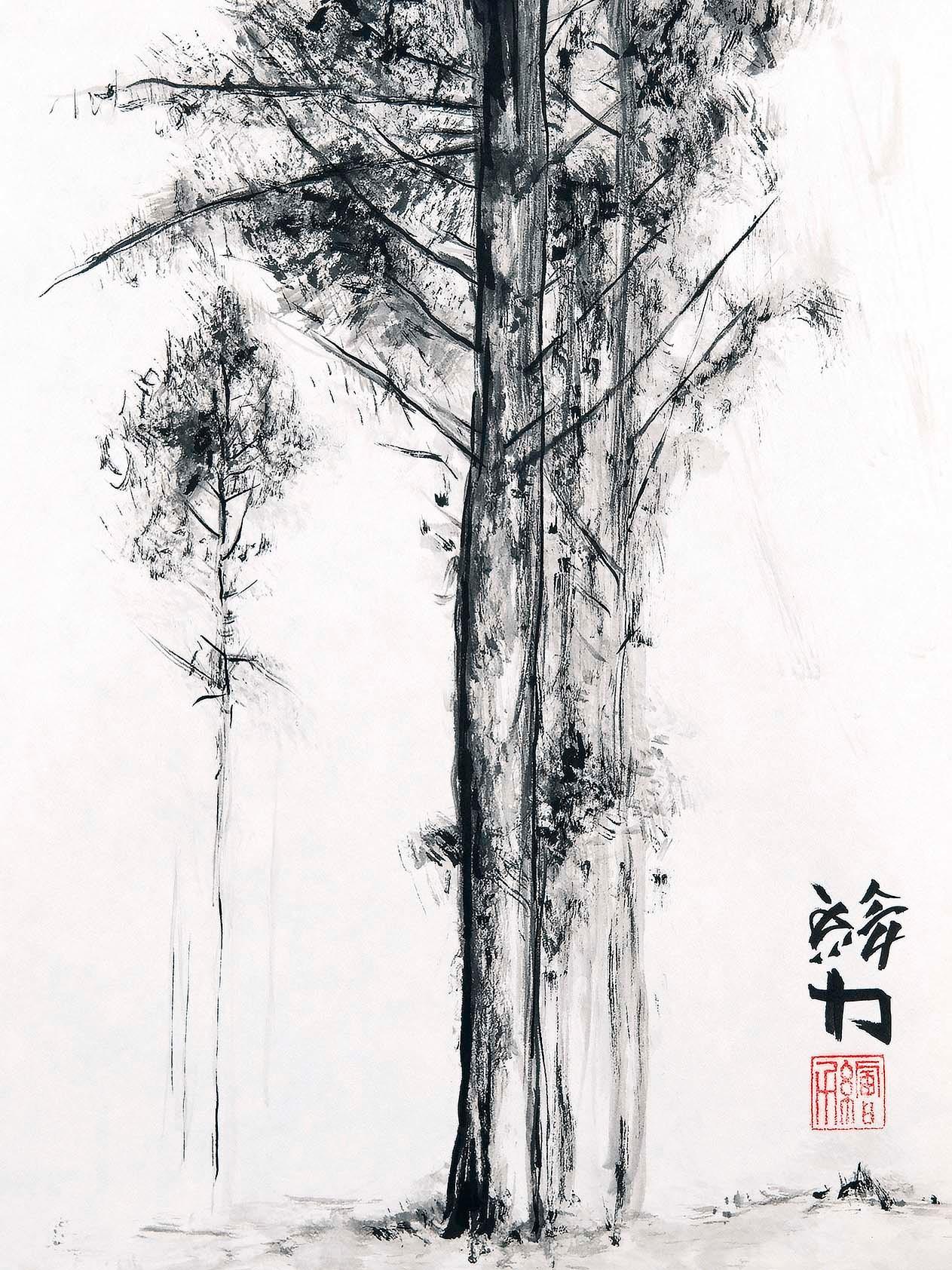Hombretheartist sumie pinetree 5 forwebsite iskbp2