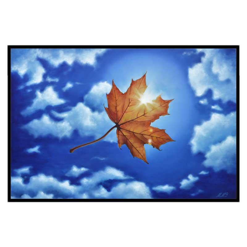 32x48 gcw black framed leaf in the sun pzpocq