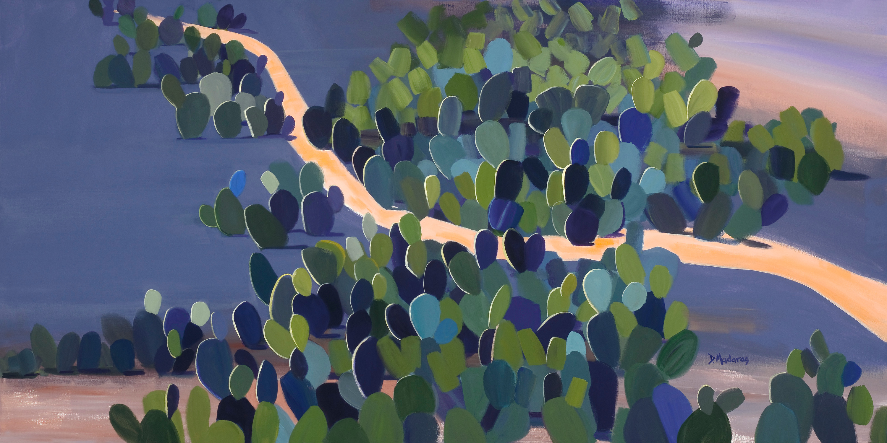 Sea of prickly pear by diana madaras 36 x 72 xxd o7zsjz