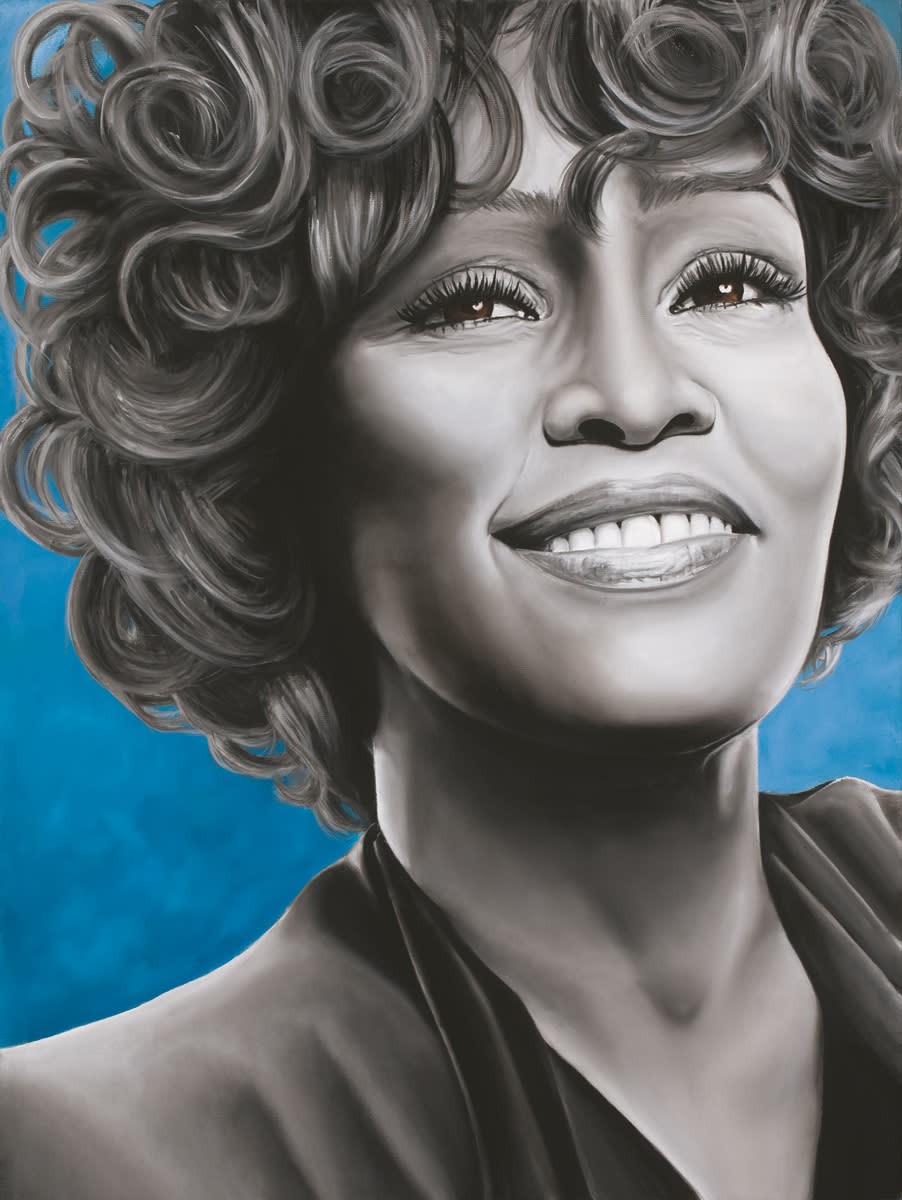 Whitney houston  oil on canvas by monica marquez gatica mmg art studio   copy rvbjtv