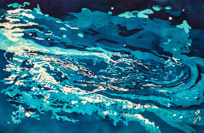 Muffy clark gill agua xxvii  hurricane rozome on silk 2016 vtxwuk