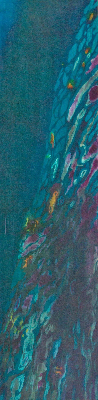 Muffy clark gill  agua xv  reflection 2013 mixed media 16 x 68 in f9ui58