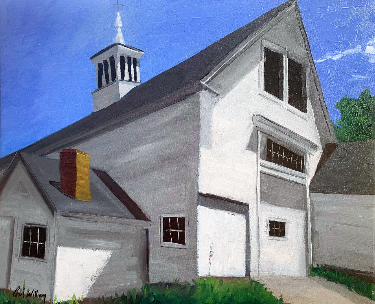 Summer barn in lincoln by paul william artist kpv3h4