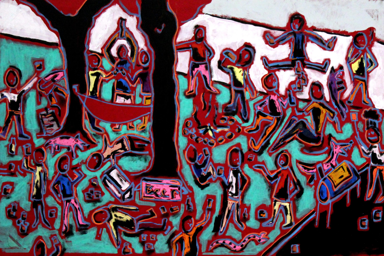 Birthday party painting paul wylenczek wetpaintnyc gallery ujfkqe