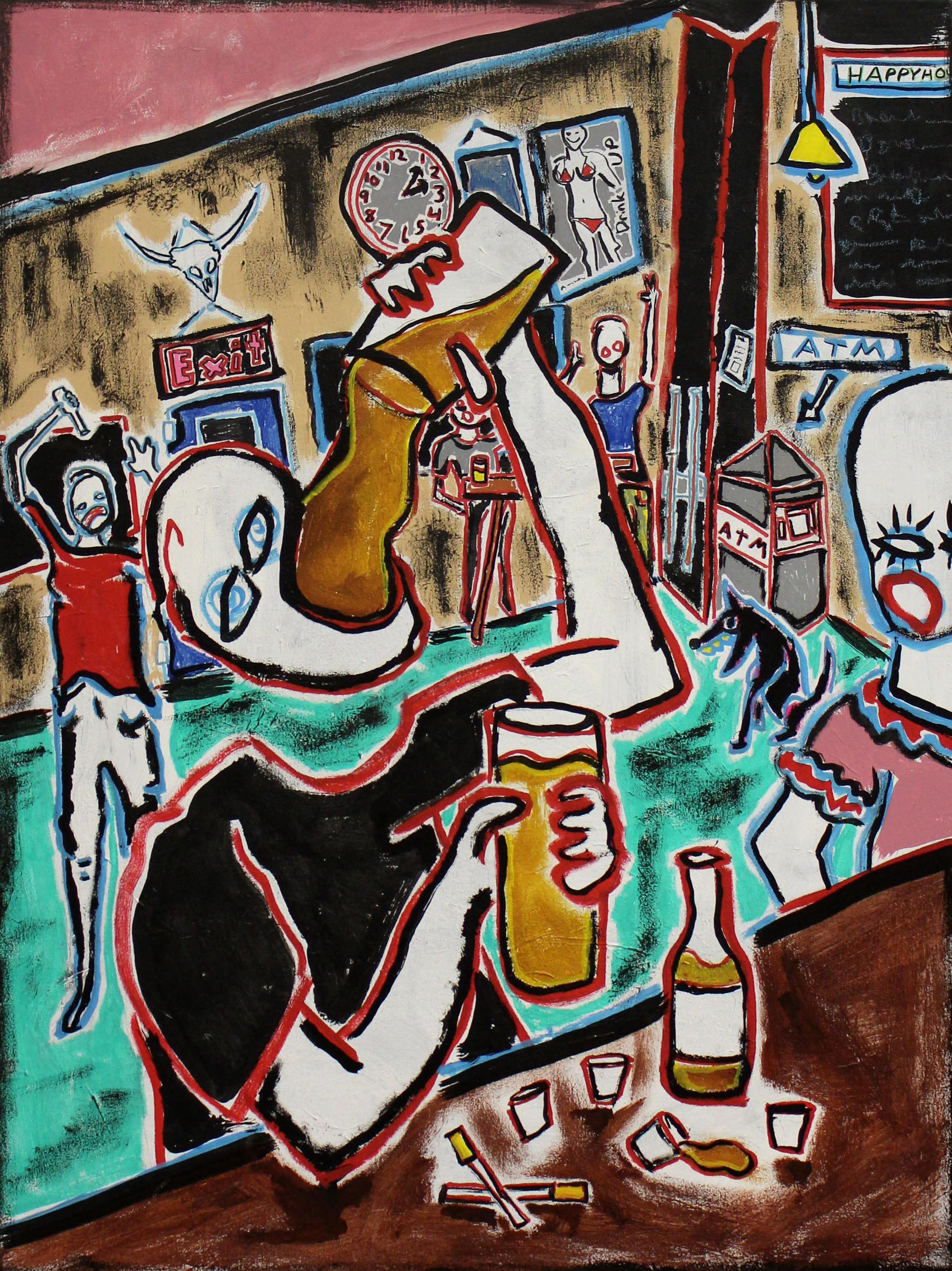 Bar painting paul wylenczek wetpaintnyc gallery r0jqxc