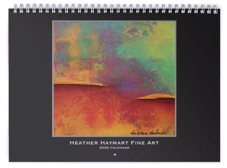 Heather haymart fine art 2020 abstract calendar   cover keaomh