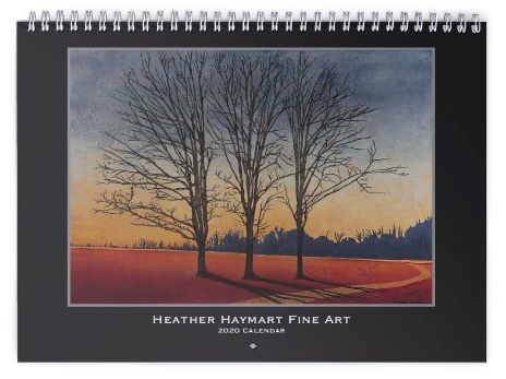Heather haymart fine art 2020 trees calendar   cover knjzzp