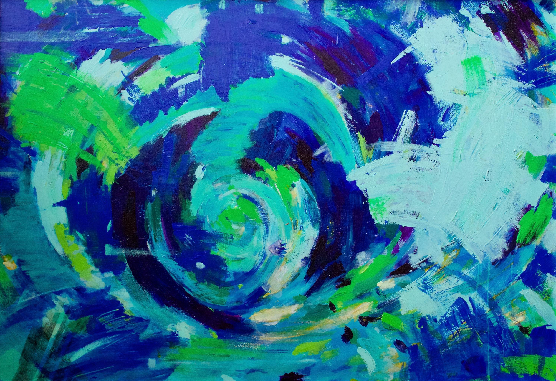 Blue swirl yxs6ue
