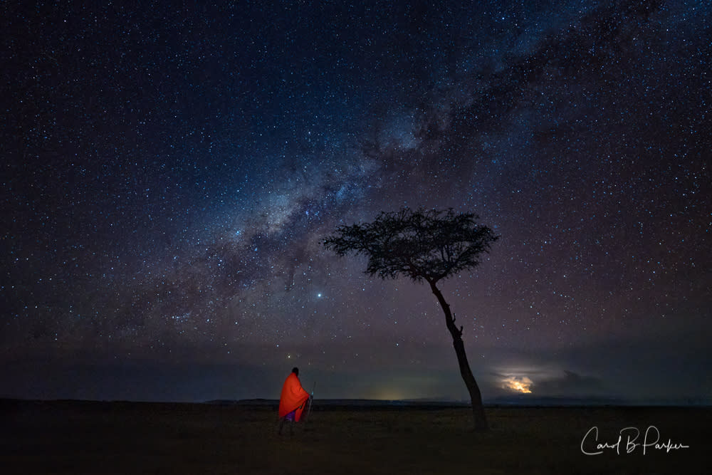 Milky way over the maasai mara tcvflg