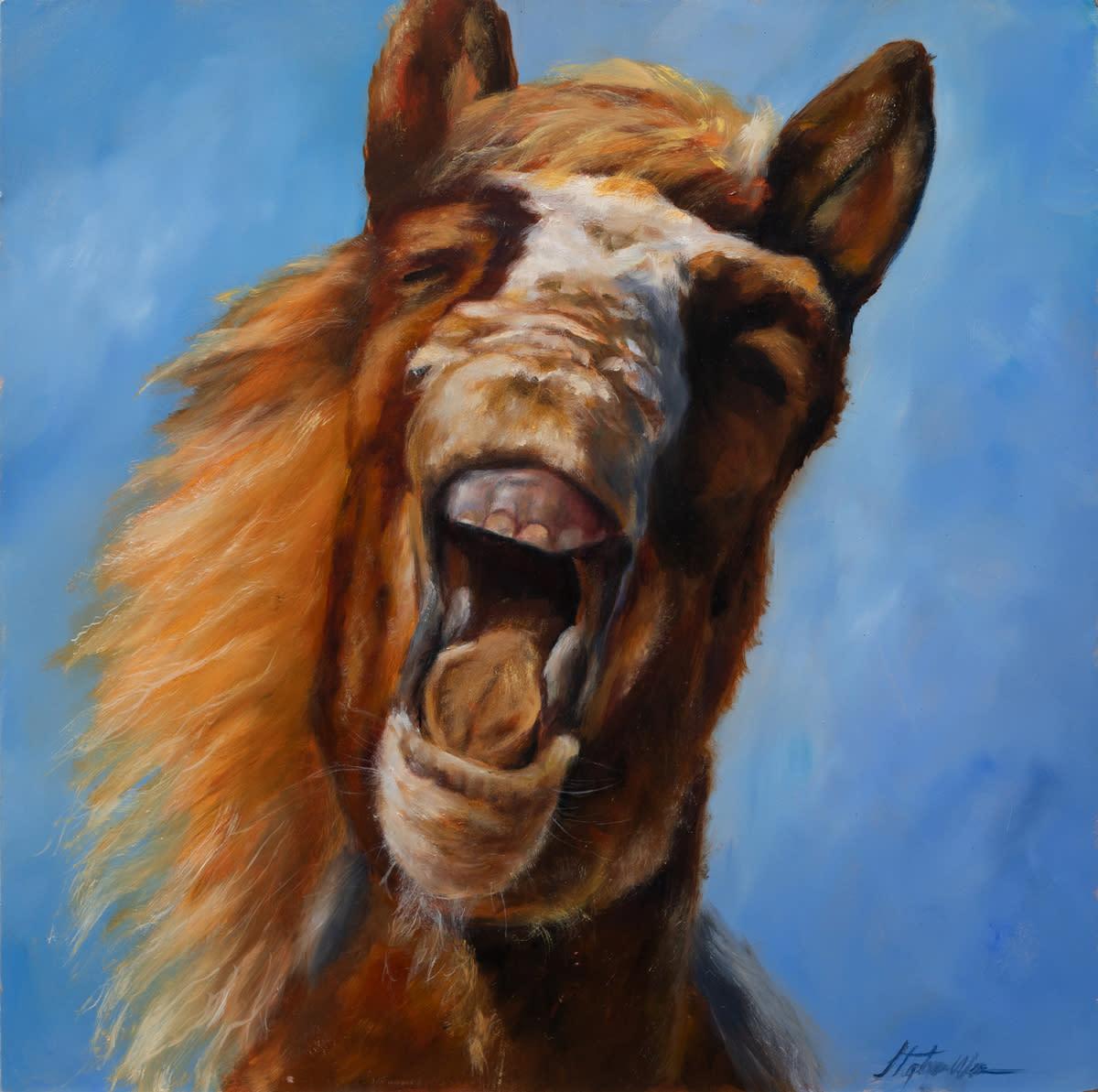 Stephanie weaver oil horse laugh himrr6
