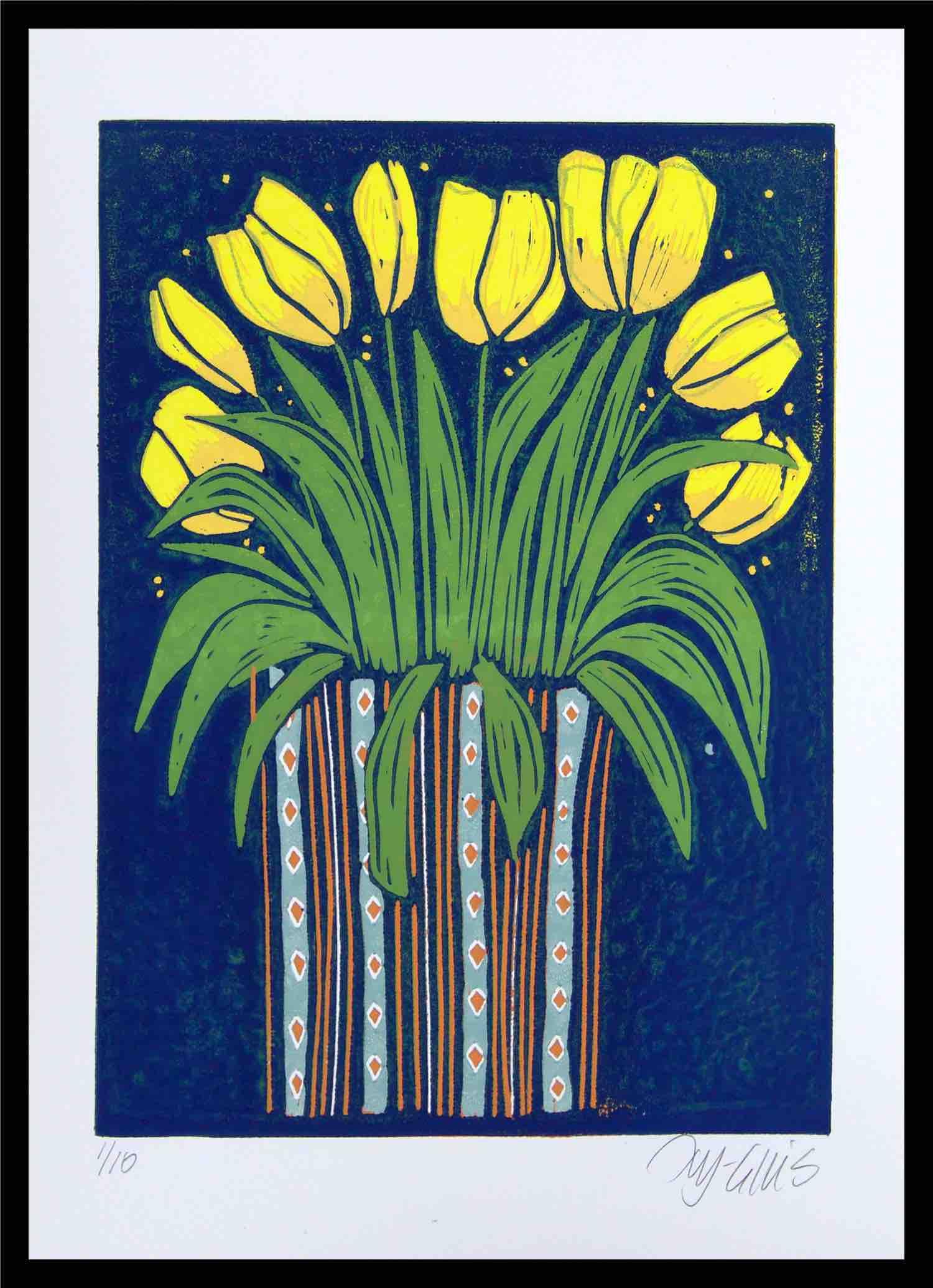 Yellow tulips framed zunasx