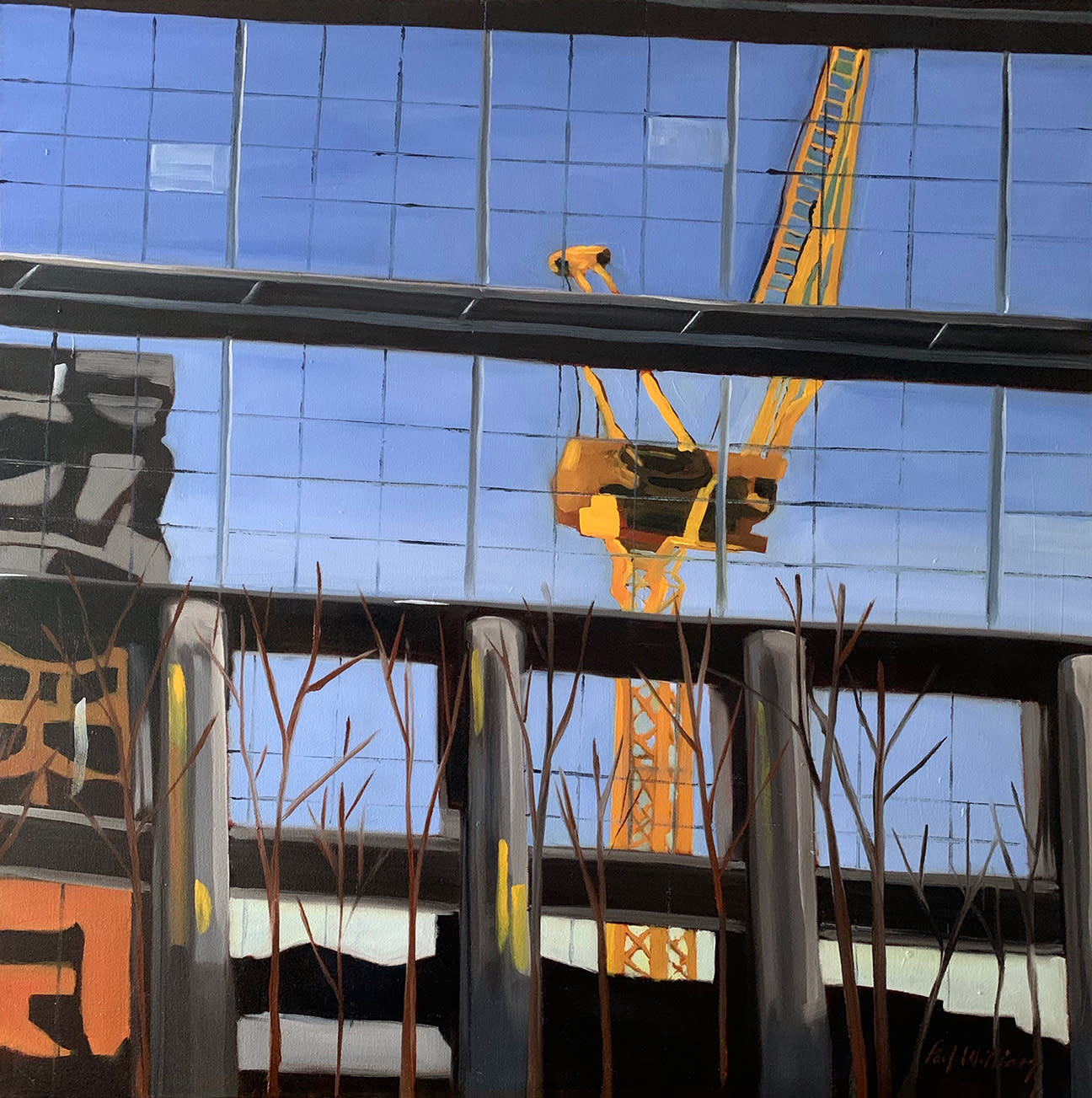 Loneliness of a tower crane driver by paul william artist n2zeph