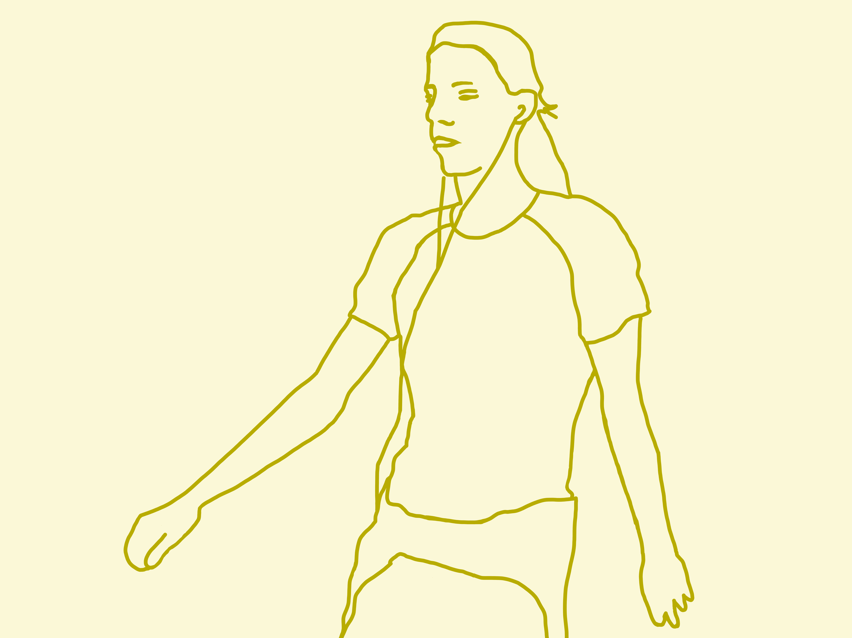 Yellow runner vy8mxn