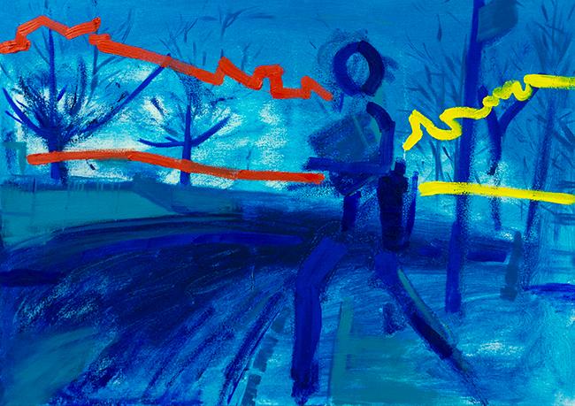 Stuart bush living in a world of desire oil on canvas 50x70 cm xjpgke