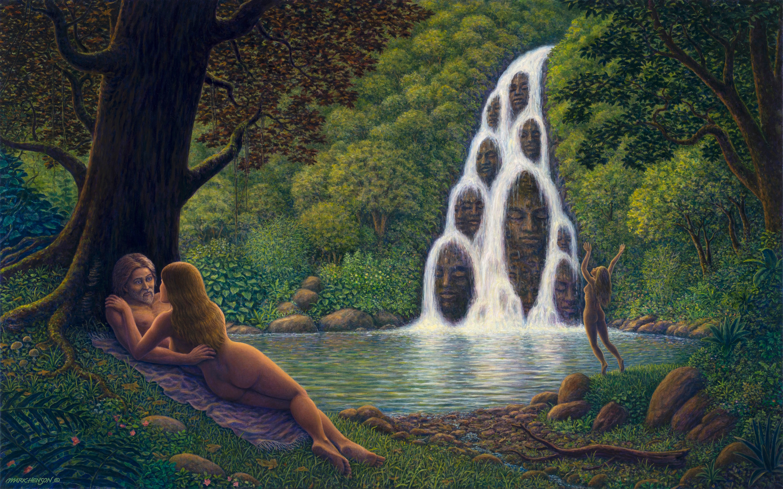 Fountain giclee avhugq
