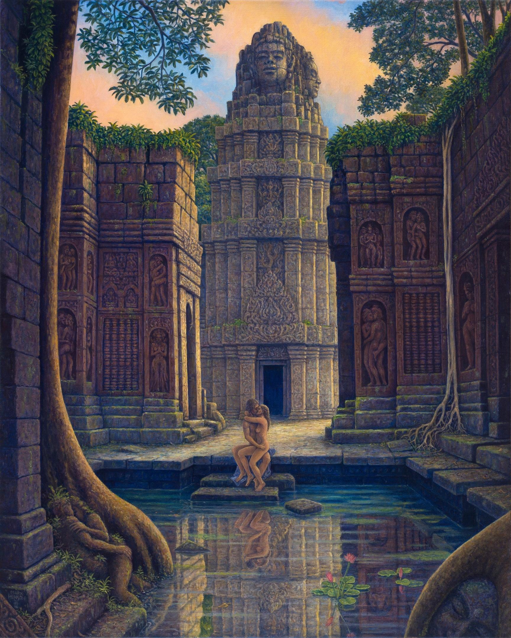 On temple steps giclee jvqxmq