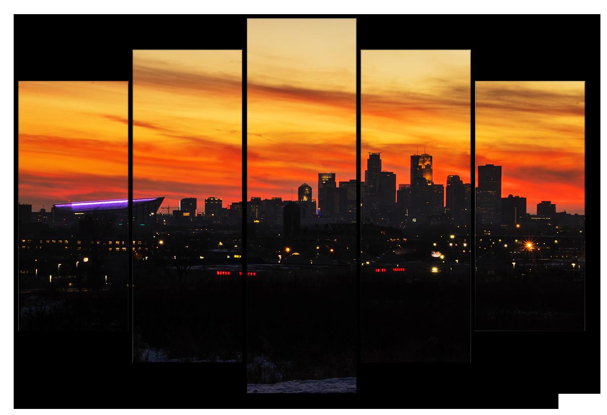 Minneapolis sunset dk2fm9
