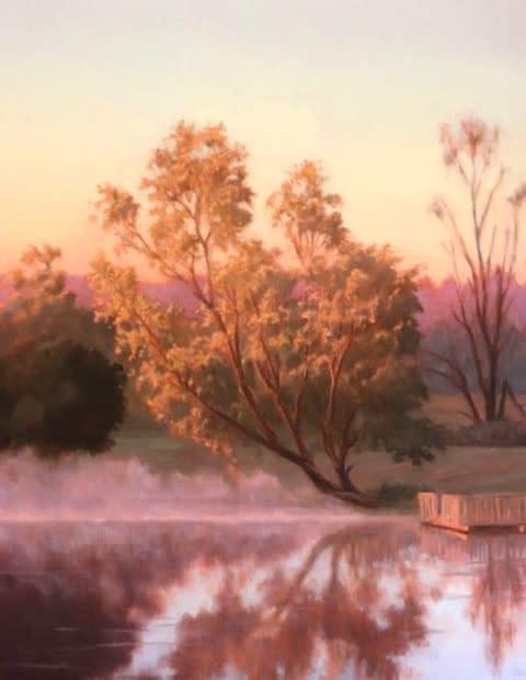 Misty morning pond zldljn