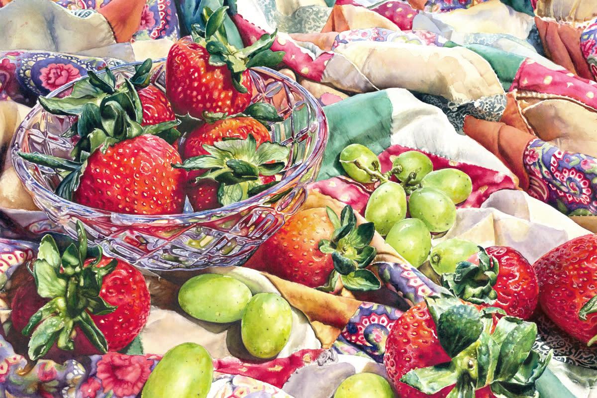 Strawberries and grapes mc vi3dvh