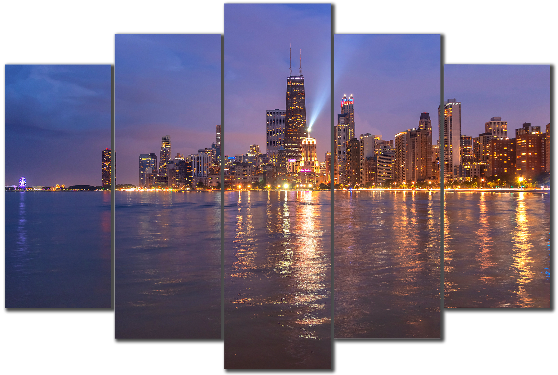 North avenue beach view of the chicago skyline sh6bee