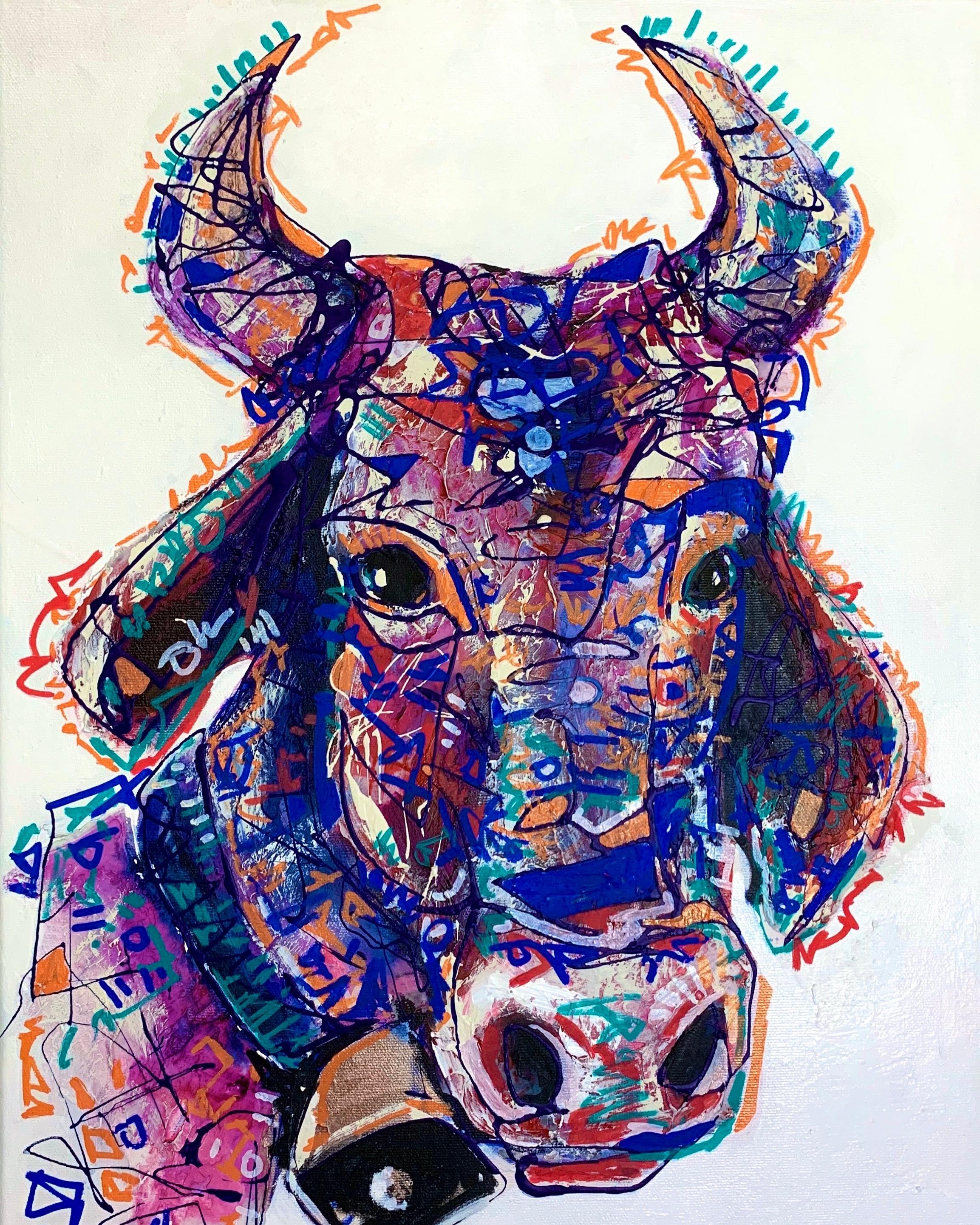 Clara the cow 14x18 daymlp