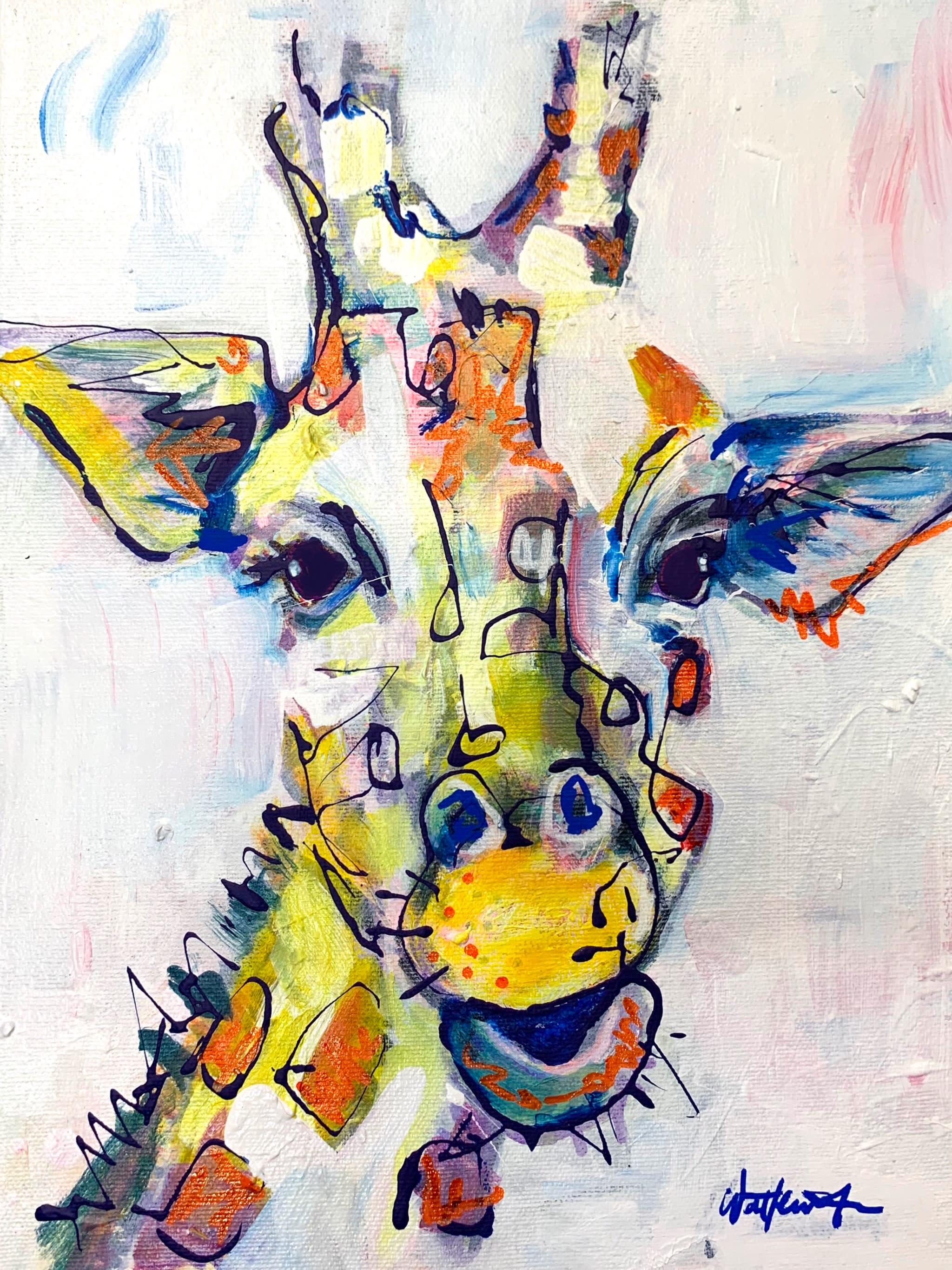 Gina the giraffe 9x12 n4bgej