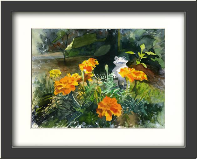 Marigold garden framed hjld4l